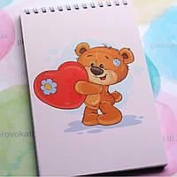 Блокнот на пружині - Ведмедик і серце