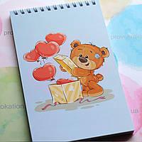 Блокнот на пружині - Ведмедик і кробока