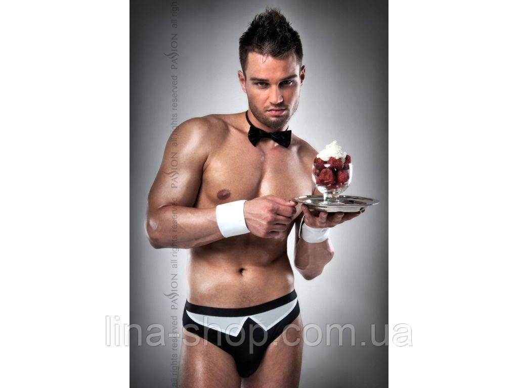 Мужской эротический костюм Passion 020 SLIP черный
