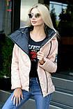 Куртка демисезонная с отстёгивающимся капюшоном, ботал, фото 4