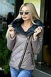 Куртка демисезонная с отстёгивающимся капюшоном, ботал, фото 5