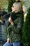 Куртка демисезонная с отстёгивающимся капюшоном, ботал, фото 2