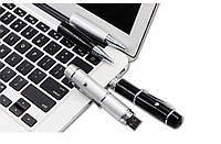 Ручка + флешка 16ГБ + лазер: 3в1! Многофункциональная шариковая ручка с флеш картой и лазерной указкой!