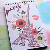Блокнот на пружине - Париж и весна