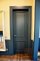 Элитные Межкомнатные двери ясень со структурой, цвет серый. Серия 50