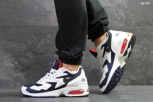 Мужские кроссовки Nike Air Max 2 Light (сине/белые)