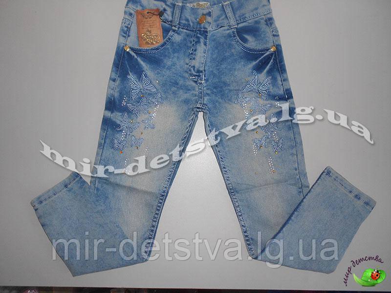 Подростковые джинсы для девочек, Турция р.8, 9, 10, 11, 12 лет (5 шт в ростовке)