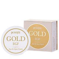 Гидрогелевые патчи для глаз с золотом и EGF Petitfee Gold & EGF Eye & Spot Patch