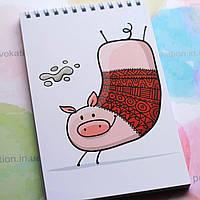 Блокнот на пружині - Свинка