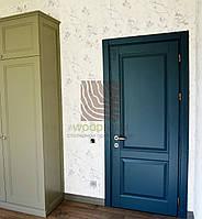 Межкомнатные двери ясень, цвет RAL 7031 матовый. Серия 20