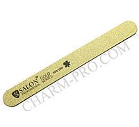 Узкая прямая пилка Salon Professional Gold Series 100/180грит