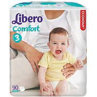 Подгузники Libero Comfort 3 Midi (4-9 кг) 90 шт Giga Pack