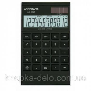 Калькулятор Assistant AC-2326 black/silver