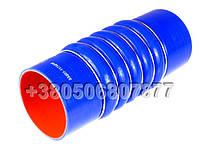 Патрубок силиконовый КАМАЗ гофра к теплообменнику d100, L250 (0020945282)