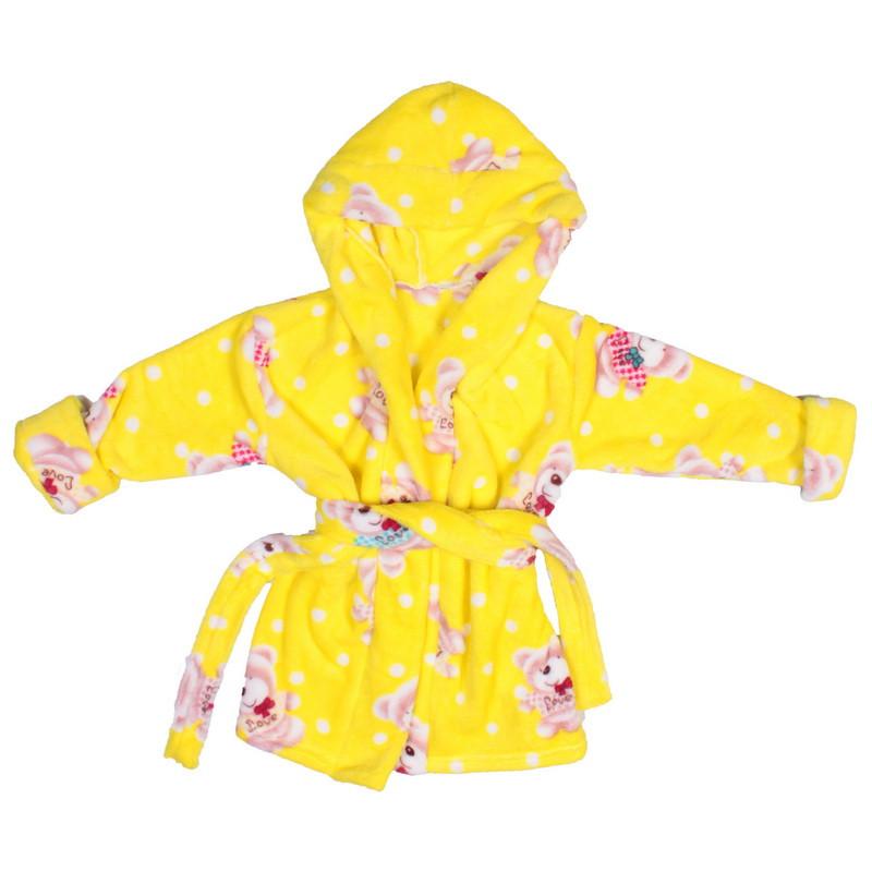 Халат детский махра желтые мишки