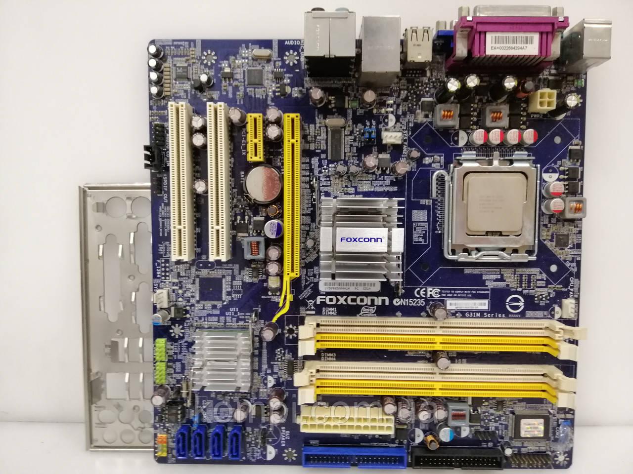 Материнская плата Foxconn G31M+E2200  S775/QUAD G31 DDR2