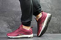 Кроссовки мужские Nike Air Max 97 , бордовые  (Реплика)