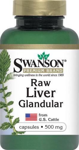Восстановление - Ткани печени (Raw Liver Glandular), 500 мг 60 капсул