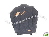 Подростковые вязанные свитера и кофты для мальчиков оптом. Турция. 10-11, 12-13, 14-15 лет (темно-серый)