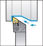 Схема обработки резцом MDJNR2525M15