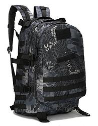 Городской тактический штурмовой военный рюкзак  ForTactic на 40литров Черный питон