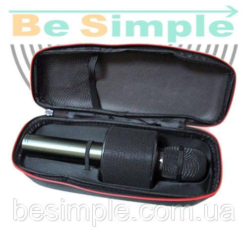 Беспроводной караоке микрофон V8 в чехле. Bluetooth колонка 2в1
