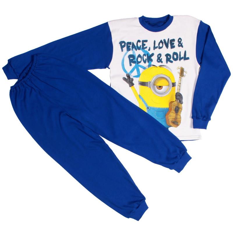Пижама миньон для мальчиков синяя