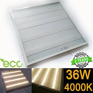 Светодиодная LED панель НАКЛАДНАЯ И ВСТРАИВАЕМАЯ 600x600 мм PRISMATIC 36Вт 4000-4500К серия ECO