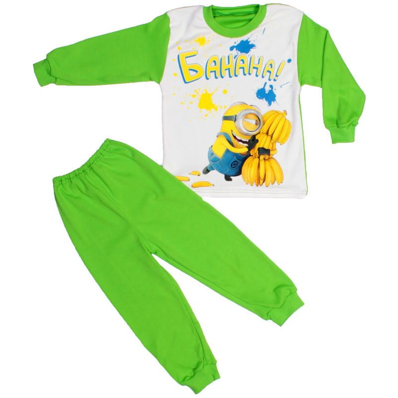 Пижама миньон для мальчиков салатовая
