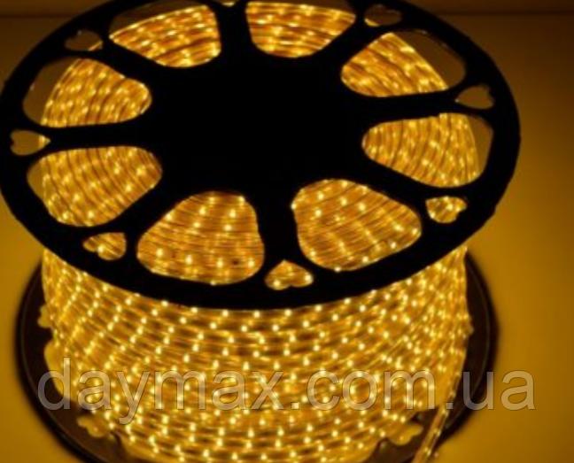 Светодиодная LED лента теплый белый(WW) на 220v STANDART 120Led 2835 8mm IP65