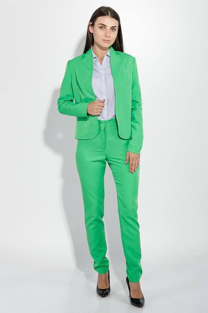 5eea101de (Зеленый гринери) (Размер 44) Костюм женский (брюки, пиджак) деловой, в  стильных оттенках 72PD155