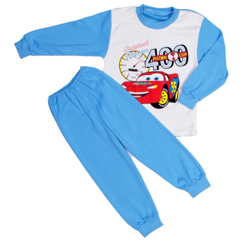 Пижама голубая тачки для мальчиков