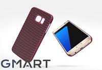 Пластиковая накладка Nillkin Synthetic Fiber series для Samsung G930F Galaxy S7 красный