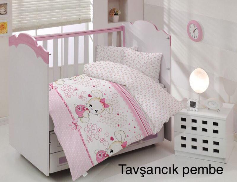 Детское постельное белье Altinbasak (ранфорс) № Tavsancik Pembe