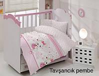 Детское постельное белье Altinbasak (ранфорс) № Tavsancik Pembe, фото 1