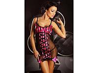 Эротическая сорочка с подвязками Lolitta Innocent, L/XL, фото 1