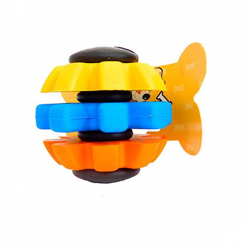 Іграшка ПетВоркс PetWorx для собак м'яч веселка PRT-6559 3 7,6 см