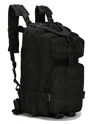 Тактический штурмовой военный городской рюкзак ForTactic на 20литров Черный