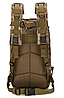 Тактический штурмовой военный городской рюкзак ForTactic на 23-25литров Хаки, фото 3
