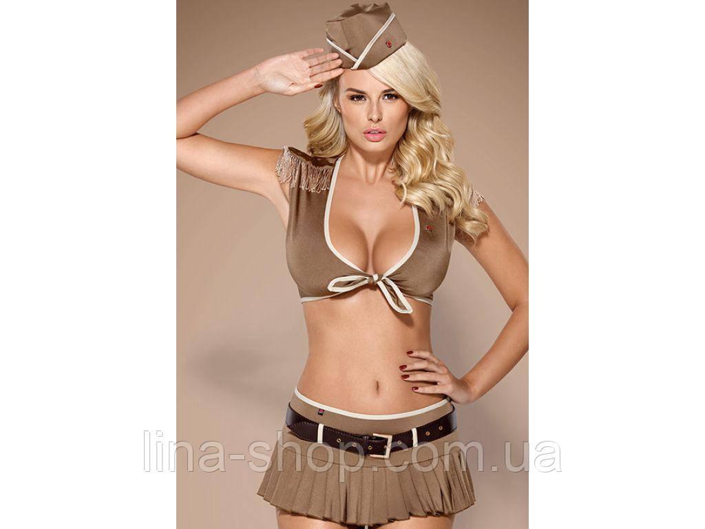 Игровой эротический костюм солдата Obsessive 814-CST-4 soldier