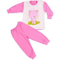 Пижама детская розовая накат кнопка