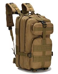 Тактический штурмовой военный городской рюкзак ForTactic на 20литров Кайот