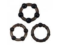 Набор из 3 эрекционных колец Easy Squeeze Cock Ring Set, фото 1
