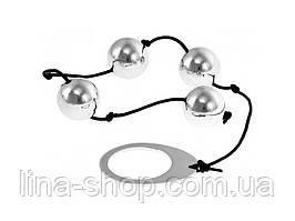Анальные бусы Kinx Heavy Metal Anal Beads Silver, 22,5х2 см