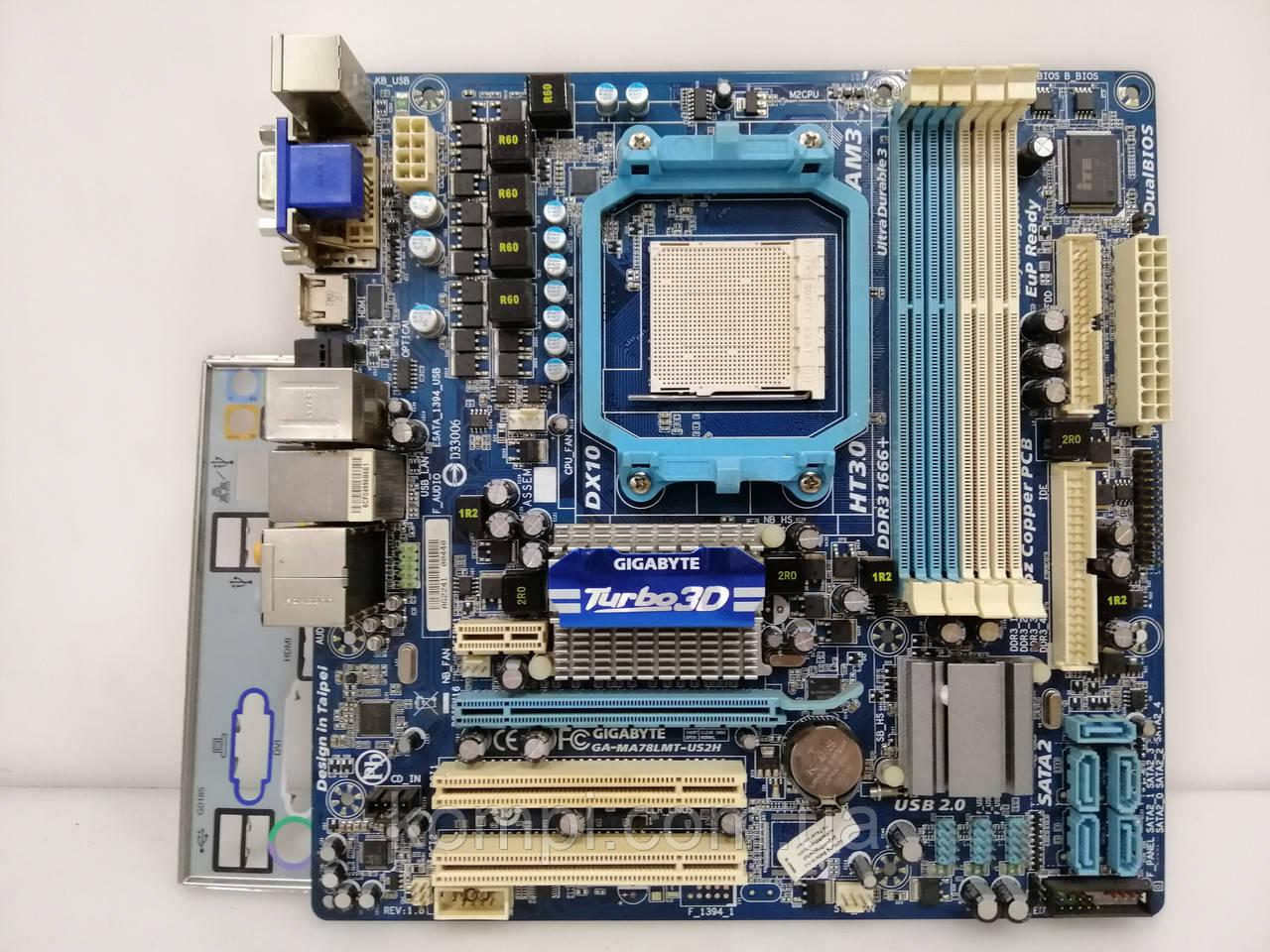 Материнская плата Gigabyte GA-MA78LMT-US2H AM2+/AM3  DDR3