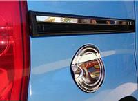 Накладка на лючок бензобака Peugeot Bipper 2008- (нерж.) Carmos