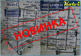 Ручная полочная тележка для производства Kolvi ТП-5П - НОВИНКА