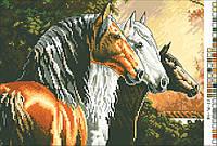 Схема на канве (А-4)  Лошади
