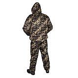 Костюм зимний куртка под резинку + штаны UkrCamo ЗКШПР 48р. Пиксель тёмный, фото 2