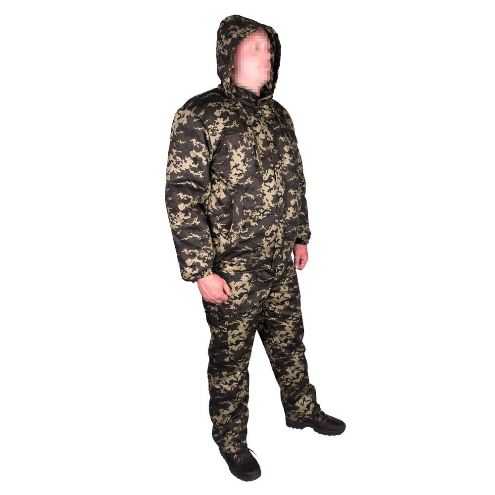 Костюм зимний куртка под резинку + штаны UkrCamo ЗКШПР 48р. Пиксель тёмный
